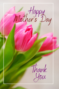 Mother's Day Card Poster template