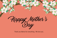 Mother's Day card Iphosta template