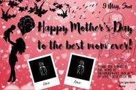 Mother's Day Card Ishidi elingu 4' × 6' template
