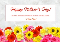 Mother's Day card Kartu Pos template