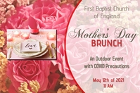 mother's day/celebration/brunch/dinner/party แบนเนอร์ 4' × 6' template