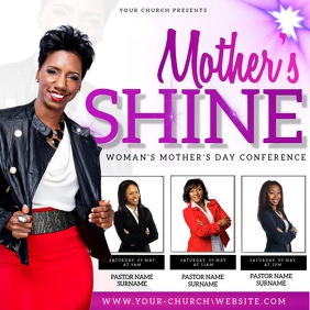 Mother's day church event flyer template Square (1:1)