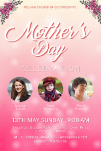 Mother's Day Church Event Poster template