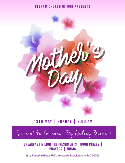 Mothers Day Church Flyer Template Postermywall