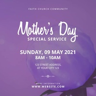 Mother's Day Church Service Instagram-opslag template