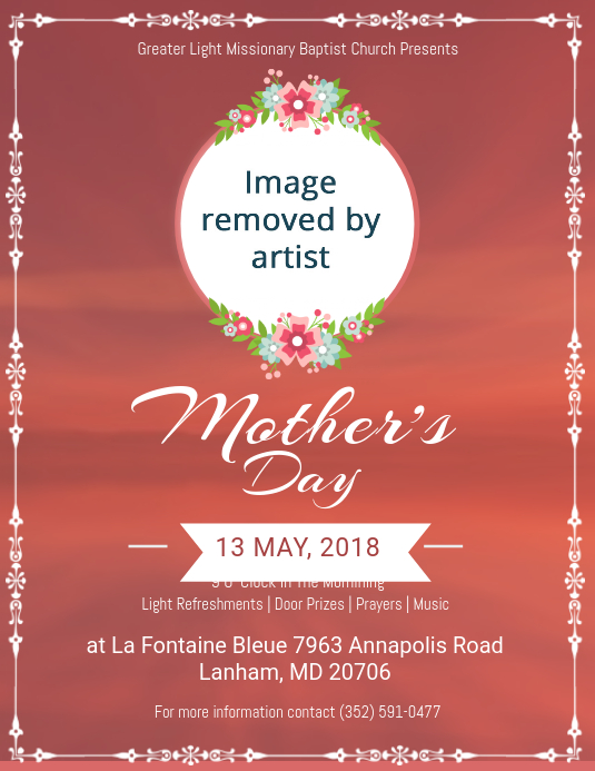 Mother's Day Church Service Event Flyer template | PosterMyWall