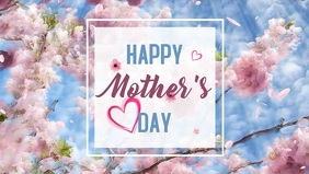 Mother's Day Facebook-omslagvideo (16:9) template