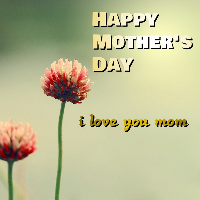 mother's day Albumcover template