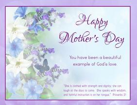 Mother's Day 传单(美国信函) template