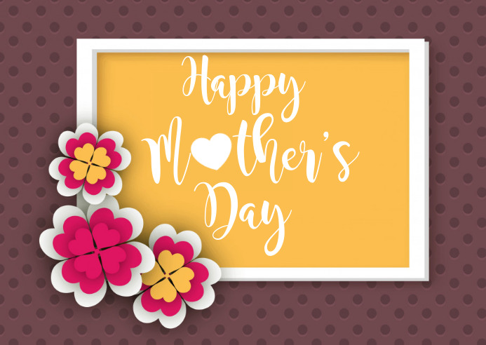 Mother's Day Briefkaart template