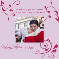 Mother's Day Message Instagram template