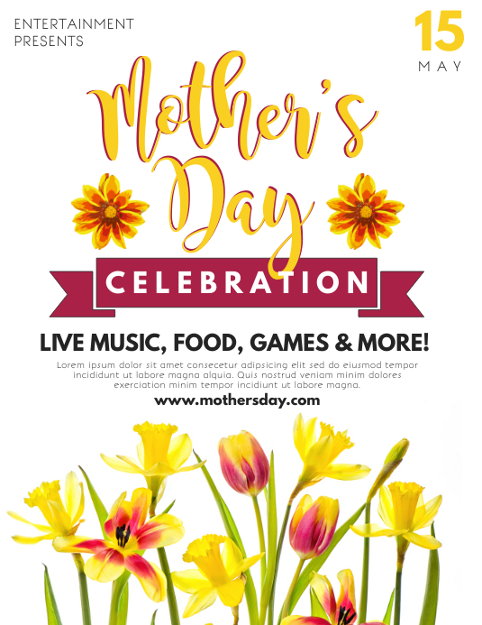 Mother's Day Folheto (US Letter) template