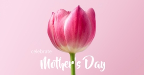 Mother's Day Facebook begivenhed cover template