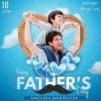 father's day Persegi (1:1) template
