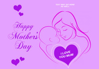 Mother's Day A2 template