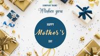 Mother's Day งานแสดงผลงานแบบดิจิทัล (16:9) template