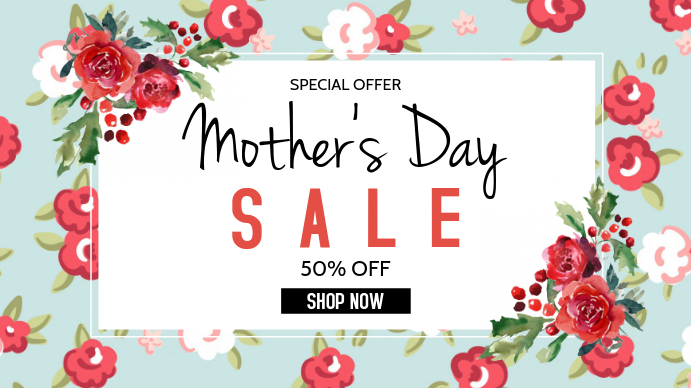 Mother's Day Digital na Display (16:9) template