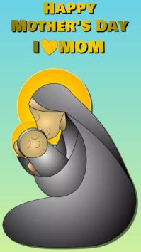mother's day Ecrã digital (9:16) template