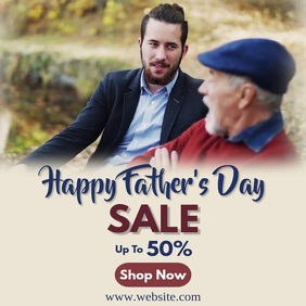 Father's Day Design Template Instagram Post
