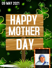 Mother's day Pamflet (Letter AS) template