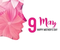 Mother's day Persegi Panjang Sedang template