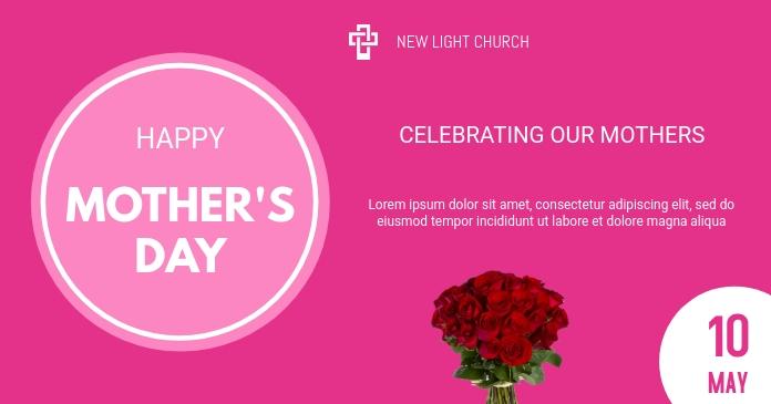Mother's Day Gambar Bersama Facebook template