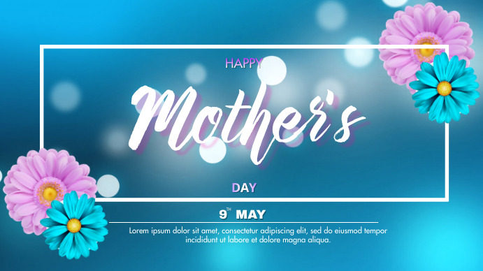 Mother's Day 数字显示屏 (16:9) template