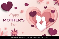 Mother's day Plakat template