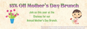 Mother's Day Banner 2' × 6' template