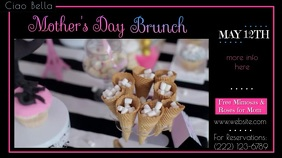 Mother's Day Digital Brunch Ad Digitale Vertoning (16:9) template