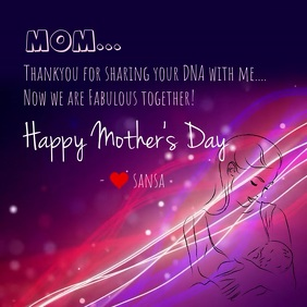 mother's day digital template