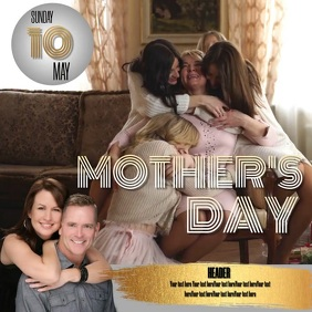 MOTHER'S DAY event ad digital video template Square (1:1)