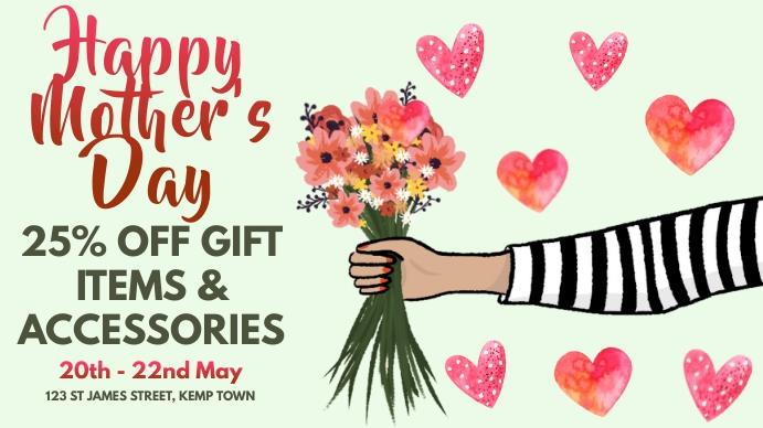 Mother's Day Event Template Digitalt display (16:9)