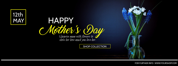 Mother's Day Facebook Cover, Mother's Day Sale Zdjęcie w tle na Facebooka template