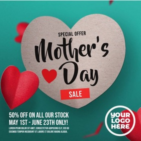 Mother's Day Falling Hearts Sale Ad