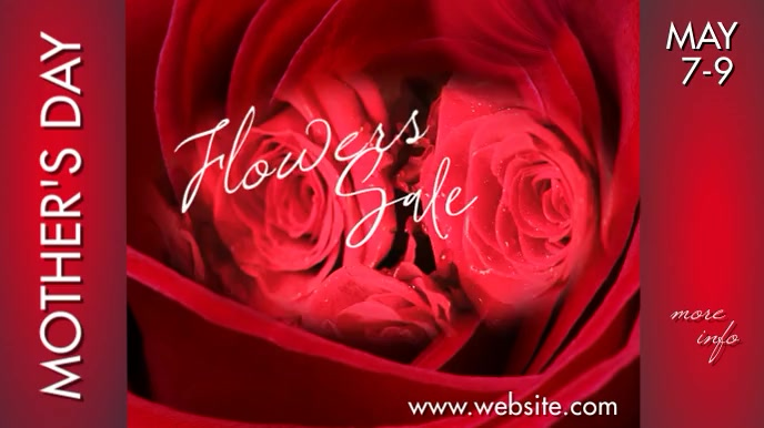Mother's Day Floral Sale 数字显示屏 (16:9) template