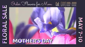 Mother's Day Floral Sale Digital Display template
