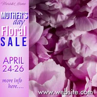 Mother's Day Floral Sale Video Square (1:1) template