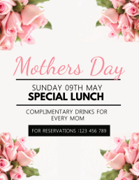 Mother's Day Flyer, Happy Mother's Day, Mother's Day Brunch