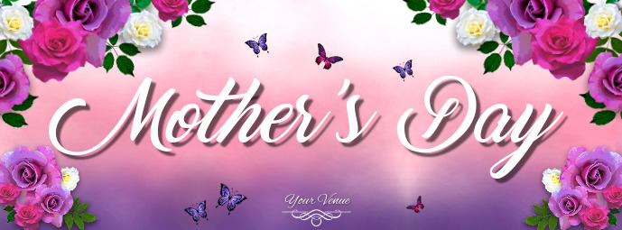Mother's Day Flyer, Happy Mother's Day, Mother's Day Brunch รูปภาพหน้าปก Facebook template