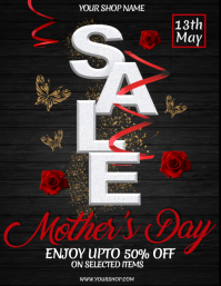 Mother's Day Flyer, Happy Mother's Day, Mother's Day Sale