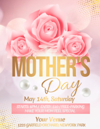 Mother's Day Flyer, Happy Mother's Day Pamflet (VSA Brief) template