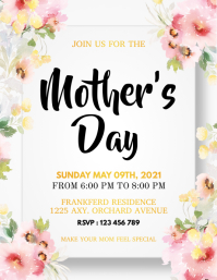 Mother's Day Flyer, Happy Mother's Day Folder (US Letter) template