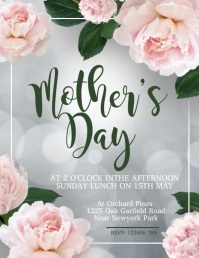 Mother's Day Flyer, Happy Mother's Day template