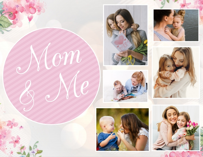 Mother's Day Flyer, Happy Mother's Day Pamflet (Letter AS) template