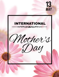 Mother's Day Flyer, International Mother's Day