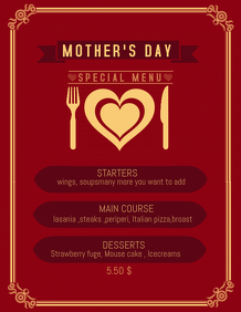 Mother's day flyer,menu templates,