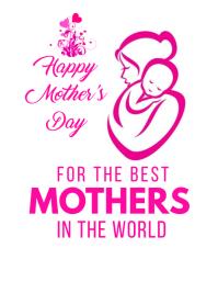 Mother's Day Flyer Folder (US Letter) template