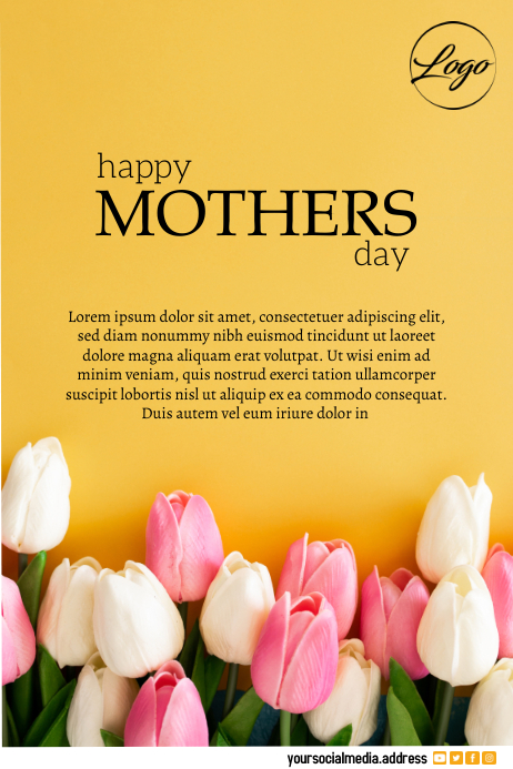 Mother's day flyer Plakat template