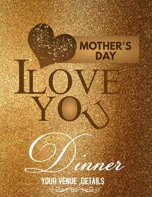 Mother's day flyer Event poster, Party poster